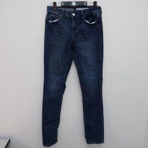 Womens DKNY Skinny Jeans Dark Wash Blue Size 2